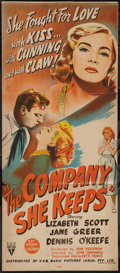 "Movie Posters:Drama, The Company She Keeps (RKO, 1951). Australian Daybill (13"" X 30""). Drama.. ..."