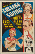 "Movie Posters:Comedy, College Swing (Paramount, 1938). Other Company One Sheet (27"" X41""). Comedy.. ..."