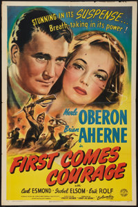 """First Comes Courage (Columbia, 1943). One Sheet (27"""" X 41""""). War"""