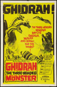 """Ghidrah, the Three-Headed Monster (Continental, 1964). One Sheet (27"""" X 41""""). Science Fiction"""