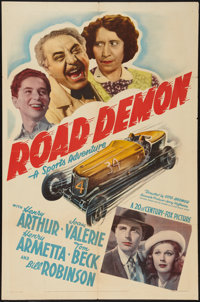 "Road Demon (20th Century Fox, 1938). One Sheet (27"" X 41""). Sports"