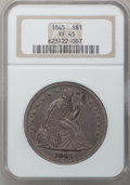 Seated Dollars, 1845 $1 XF45 NGC....