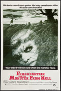 "Movie Posters:Horror, Frankenstein and the Monster from Hell (Paramount, 1974). One Sheet (27"" X 41""). Horror.. ..."