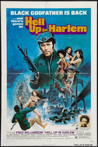 "Hell Up in Harlem & Other Lot (American International, 1973). One Sheets (2) (27"" X 41""). Blaxploitation..."