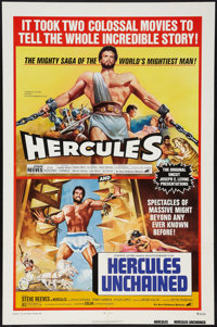 """Hercules and Hercules Unchained Combo (Avco Embassy, R-1973). One Sheet (27"""" X 41""""). Action"""