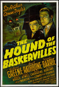 "The Hound of the Baskervilles (20th Century Fox, R-1970s). One Sheet (24.5"" X 36.5""). Mystery"