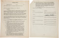 "Music Memorabilia:Autographs and Signed Items, Woody Guthrie Twice-Signed Songwriter's Contract for ""The Blindingof Isaac Woodwards"" [sic], Circa 1946. ..."