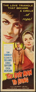 """Movie Posters:Crime, The Last Man to Hang (Columbia, 1956). Insert (14"""" X 36""""). Crime....."""