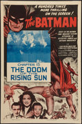 "Movie Posters:Serial, The Batman (Columbia, R-1954). One Sheet (27"" X 41""). Chapter 12 -- ""The Doom of the Rising Sun."" Serial.. ..."
