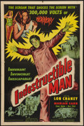 """Movie Posters:Horror, Indestructible Man (Allied Artists, 1956). One Sheet (27"""" X 41""""). Horror.. ..."""