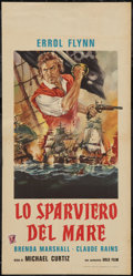 "Movie Posters:Swashbuckler, The Sea Hawk (Gold Film, R-1950s). Italian Locandina (13"" X 27.5""). Swashbuckler.. ..."