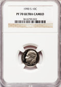 Proof Roosevelt Dimes: , 1990-S 10C PR70 Ultra Cameo NGC. NGC Census: (154). PCGS Population (257). Numismedia Wsl. Price for problem free NGC/PCGS...