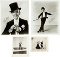 Memorabilia:Movie-Related, Fred Astaire Photo Group with Autographs (1940s-80s).... (Total: 4Items)