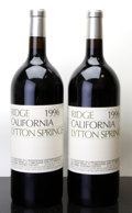 Domestic Misc. Red, Ridge Red 1996 . Lytton Springs. 1lnl. Magnum (2). ...(Total: 2 Mags. )