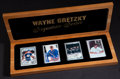 """Hockey Cards:Lots, Wayne Gretzky Upper Deck Authenticated """"Signature Series"""" CeramicSigned Cards Collection (2 Autographs). ..."""