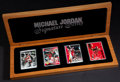 """Basketball Collectibles:Others, Michael Jordan Upper Deck Authenticated """"Signature Series"""" CeramicSigned Card Collection (1 Autograph). ..."""