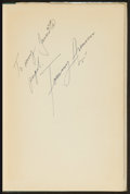 "Golf Collectibles:Autographs, Tommy Armour Dual Signed ""How to Play Your Best Golf All the Time""Hardcover Book. ..."