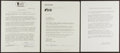 Baseball Collectibles:Others, 1985-86 Yogi Berra Signed Documents Lot of 3. ...