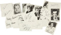 Memorabilia:Movie-Related, Celebrity Autographed Card and Small Photo Group (1970s-90s)....(Total: 25 Items)