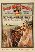 Memorabilia:Poster, Young Rough Riders Weekly #39 Poster (Street and Smith, c.1905)....