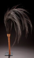 African, AN EAST AFRICAN WILDEBEEST FLYWHISK . 20th century . 35 inches long(88.9 cm). ...