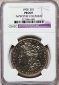 Proof Morgan Dollars, 1900 $1 -- Improperly Cleaned -- NGC Details. Proof....