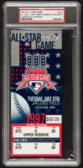 Baseball Collectibles:Tickets, 1991 and 1997 Major League Baseball All Star Game Full Tickets -PSA Graded....