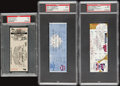 Baseball Collectibles:Tickets, 1975-2000 Elton John Concert and Famous Baseball Moments FullTickets Lot of 3 - PSA Graded....