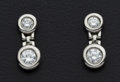 Estate Jewelry:Earrings, Platinum & Diamond Earrings. ...