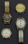 Timepieces:Wristwatch, Four Gent's Wristwatches For Repair Or Parts. ... (Total: 4 Items)