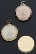 Timepieces:Pocket (post 1900), Lord Elgin & Omega 12 Size Pocket Watches Runners. ... (Total: 2 Items)