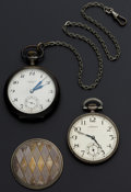Timepieces:Pocket (post 1900), Longines & Swiss .800 Silver 17 Jewel Pocket Watches Runners. ... (Total: 2 Items)