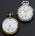 Timepieces:Pocket (post 1900), Two Hamilton 21 Jewel 18 Size Pocket Watches Runners. ... (Total: 2Items)