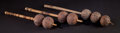 African, THREE UGANDAN GOURD RATTLES . Early 20th century. 14-1/2 incheslong (36.8 cm) (largest). ... (Total: 3 Items)