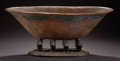 African, A SOUTH AFRICAN CARVED WOOD BOWL . Zulu, early 20th century.8-1/2 inches high x 20 inches wide (21.6 x 50.8 cm). ...