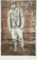 Baseball Collectibles:Others, Rube Waddell Framed Etching...