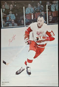 "Hockey Collectibles:Photos, 1970 Gordie Howe Signed ""Sports Illustrated"" Poster...."