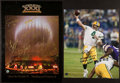 Football Collectibles:Uniforms, 1997 Green Bay Packers Super Bowl XXXI Team Signed and Brett Favre Signed Photographs Lot of 2....