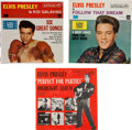 Music Memorabilia:Recordings, Elvis Presley Perfect For Parties and Sealed EPs (1956-62).... (Total: 3 Items)