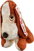 Music Memorabilia:Memorabilia, Elvis Summer Festival Large Souvenir Hound Dog w/Ribbon (1972)....(Total: 2 Items)