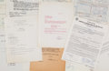 Music Memorabilia:Documents, Elvis Presley USS Arizona Memorial Fund/ Concert Document ArchiveGroup (1961)....