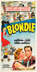 "Movie Posters:Comedy, Blondie (Columbia, 1938). Three Sheet (41"" X 79"").. ..."