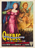 "Movie Posters:Adventure, Quebec (Paramount, 1951). Italian 4 - Foglio (55"" X 78"").Adventure.. ..."