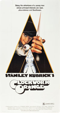 """A Clockwork Orange (Warner Brothers, 1971). Three Sheet (41"""" X 81"""") X-Rated Style. Science Fiction"""