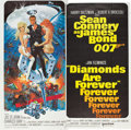 "Movie Posters:James Bond, Diamonds Are Forever (United Artists, 1971). Six Sheet (76"" X 77).. ..."