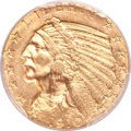 Indian Half Eagles, 1910 $5 MS64 PCGS....