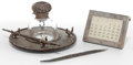 Silver Holloware, American:Desk Accessories, FOUR AMERICAN DECORATIVE ITEMS . 19th and 20th centuries . Marks:TIFFANY & CO., MAKERS STERLING; GEO. O. HERRMANN, ST...(Total: 8 Items)