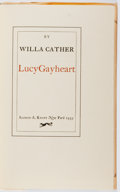 Books:Literature 1900-up, Willa Cather. SIGNED/LIMITED. Lucy Gayheart. Knopf, 1935.First edition, first printing. Limited to 749 number...
