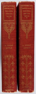 Books:Mystery & Detective Fiction, A. Conan Doyle. Stories of Sherlock Holmes. Vol. I & II. Harper, 1904. Later edition. Slight lean with hinges cr... (Total: 2 Items)