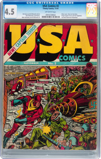 USA Comics #2 (Timely, 1941) CGC VG+ 4.5 Off-white pages